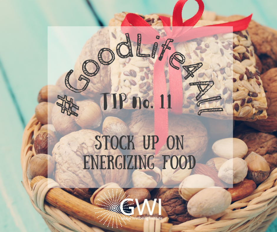 wellbeing tip #11 stock up on energizing food for vegans