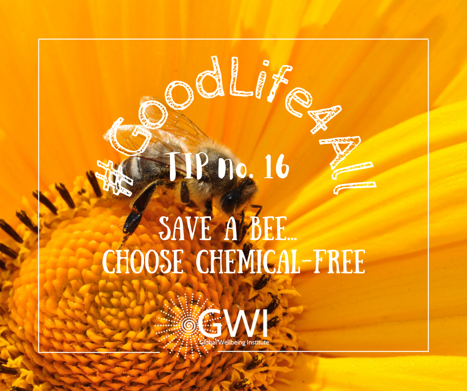 wellbeing tip #16 save a bee, choose chemical free or organic food