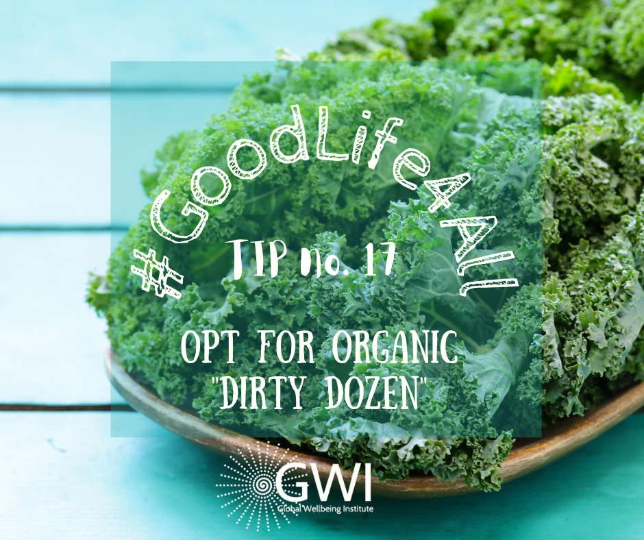 wellbeing tip #17 opt for the organic dirty dozen
