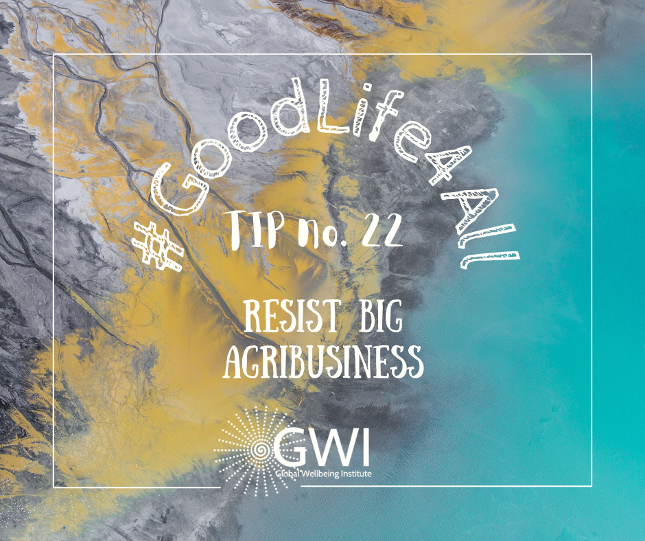 wellbeing tip #22: resist big agribusiness to end hunger
