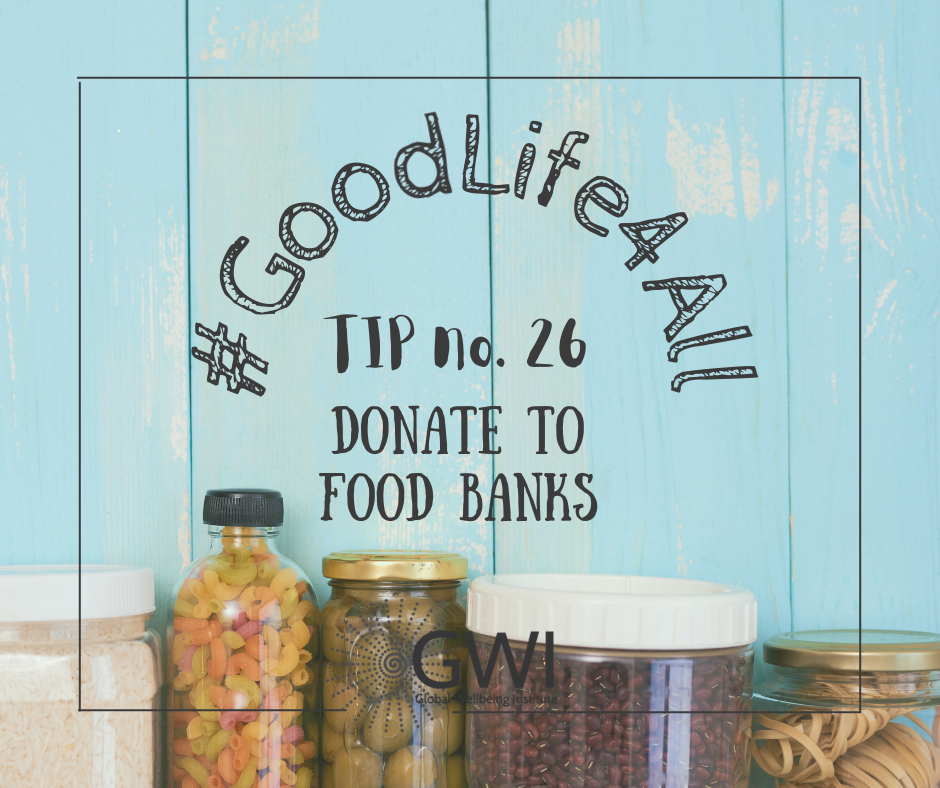 wellbeing tip #26 donate to food banks to end hunger