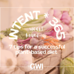 7 tips for a successful plant-based diet