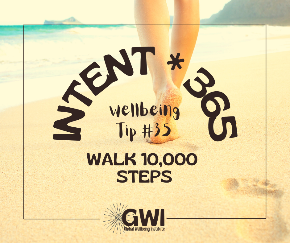 wellbeing tip #35: walk 10,000 steps to get more exercise