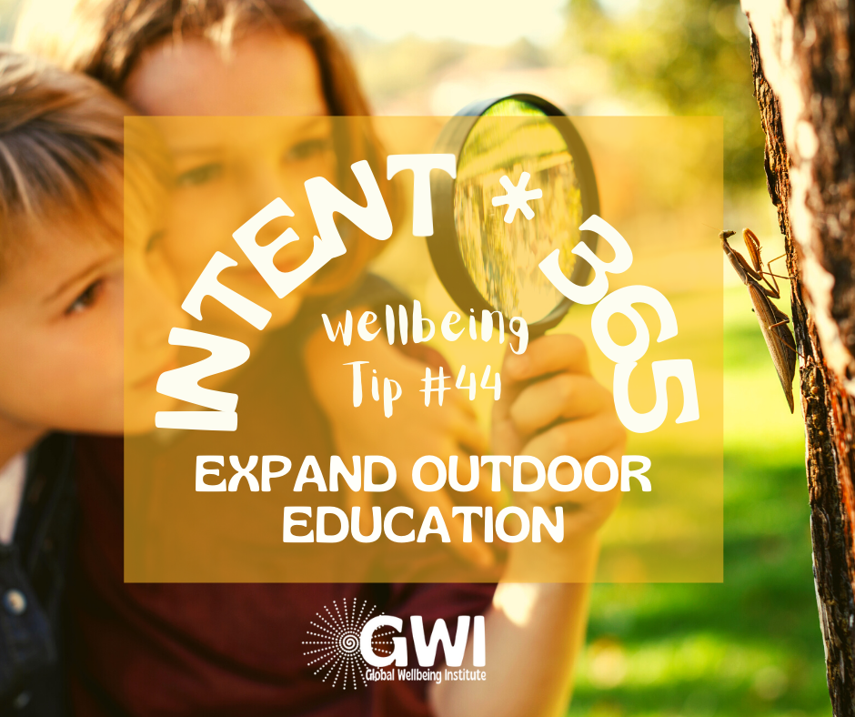 wellbeing tip #44: expand outdoor education to increase kids' physical activity