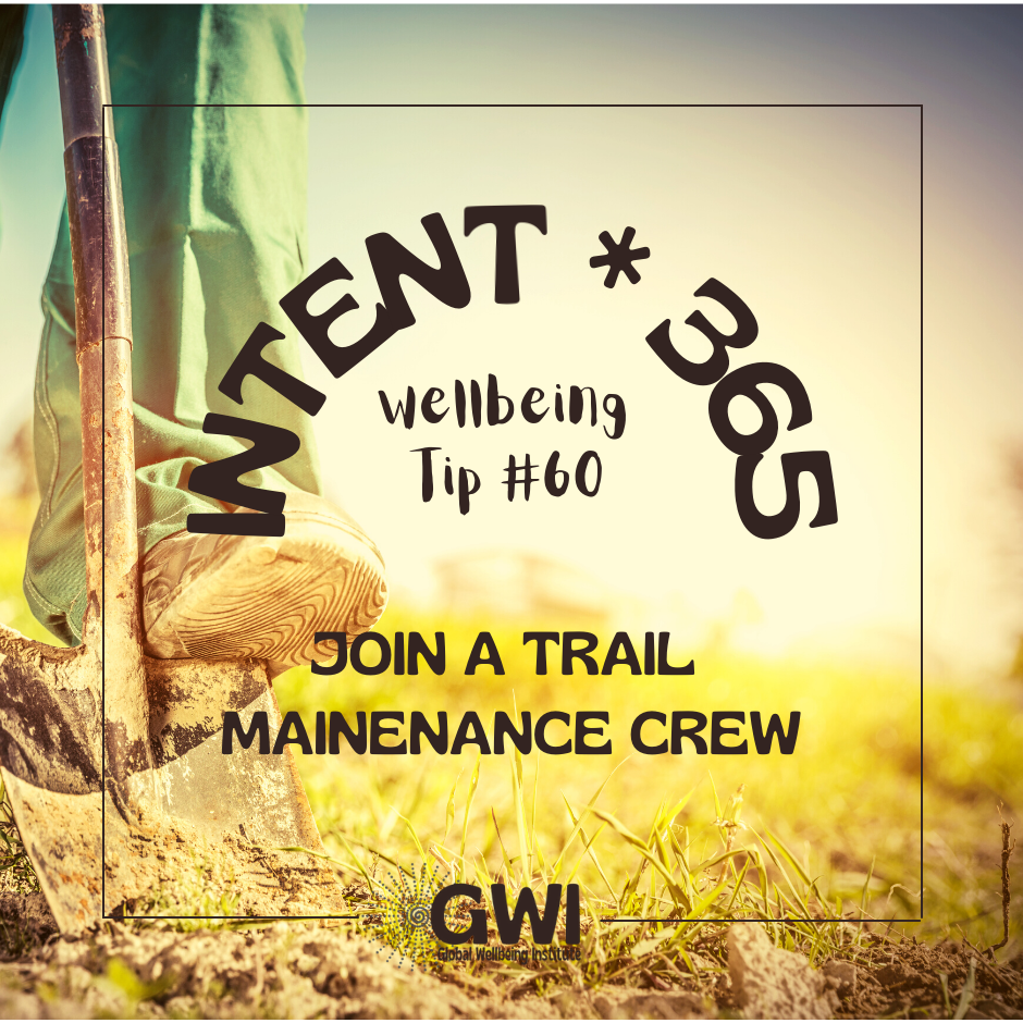 join a trail maintenance crew (foot on shovel in dirt)