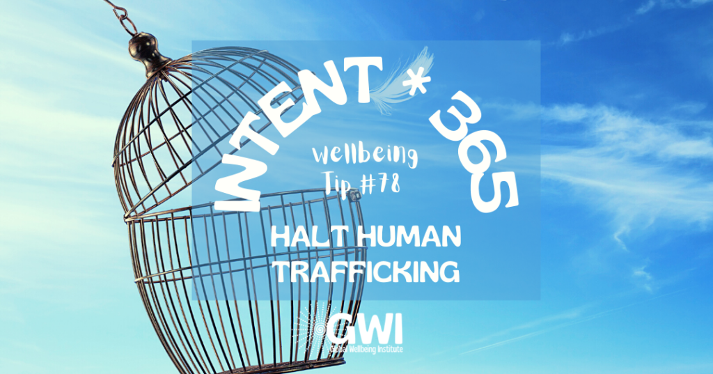 wellbeing tip 78: halt human trafficking for social inclusion (open bird cage)