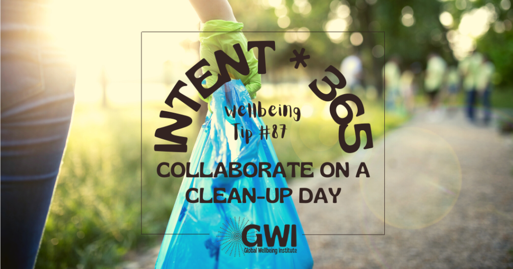 wellbeing tip 87 collaborate on a clean up day for a sustainable social activity