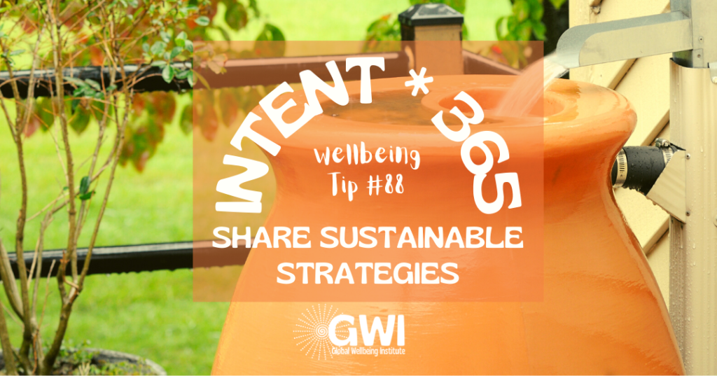 wellbeing tip 88 share sustainable strategies