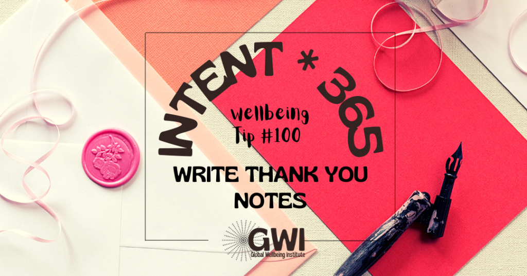wellbeing tip 100: write thank you notes (letter writing supplies)