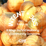 round up week 15: 8 ways to find wellbeing in a community commons (pile of large orange squash)